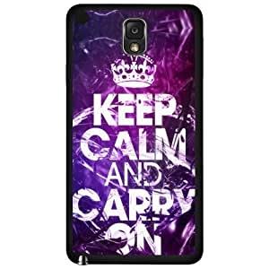 Keep Calm Carry on Hard Snap on Phone Case (Note 3 III)
