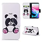 For Galaxy S9 Case, Mistars Premium PU Leather Flip Wallet Cover with Lovely Panda Pattern Design Stand Function Magnetic Closure & Card Slots & Money Pouch Slim Fit Protective Case Cover for Samsung Galaxy S9