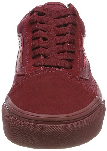 Top Vans Adults' Bumber Red Low Skool Unisex Old Mono Trainers 66wZB4