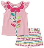 Kids Headquarters Toddler Girls' 2 Pieces Shorts Set, Pink, 2T