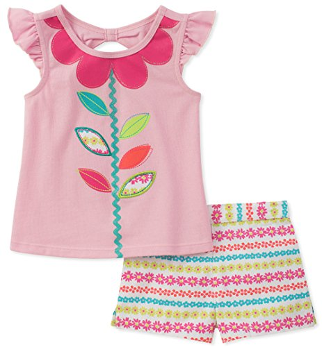 - Kids Headquarters Baby Girls 2 Pieces Shorts Set, Pink 24M