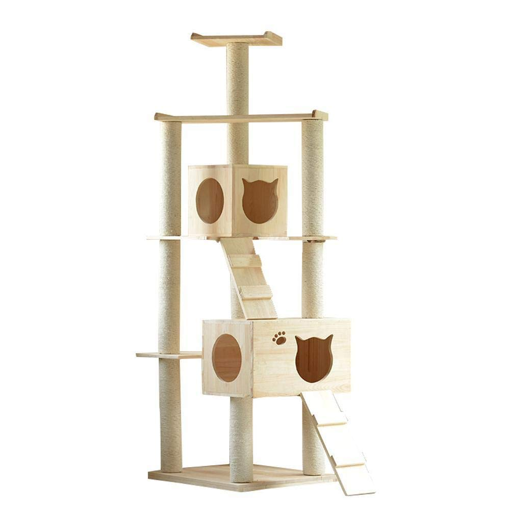 Weiwei Cat Climbing Frame Wood cat Tree cat Grab Column for Game cat Jumping 50cm 60cm  185cm
