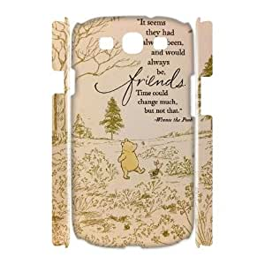 Diy Winnie the Pooh quote 3D Cell Phone Case, DIY Durable Cover Case for Samsung Galaxy S3 I9300 Winnie the Pooh quote