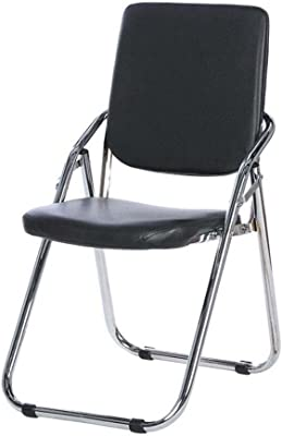 Portable Folding Chair Household Back Chairs Padded Leisure Chairs Stool Foldable Backrest Training Office Computer Chairs Conference Chairs Desk Chair (Color : A)