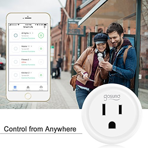 Smart plug, Gosund Mini Wifi Outlet Compatible with Alexa, Google Home & IFTTT, No Hub Required, Remote Control your home appliances from Anywhere, ETL Certified (4 packs) by Gosund (Image #5)
