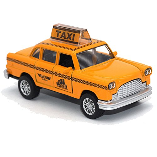 New York Yellow Taxi Cab 1:36 Diecast Car Model Toy Vehicles Kids Boys (Bat Wings Costume Ebay)
