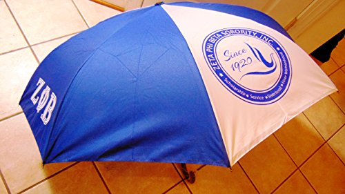 (New Zeta Phi Beta Sorority Unique Vented Two Carbon Fiber Ribs New Pongee Fabric Umbrella)