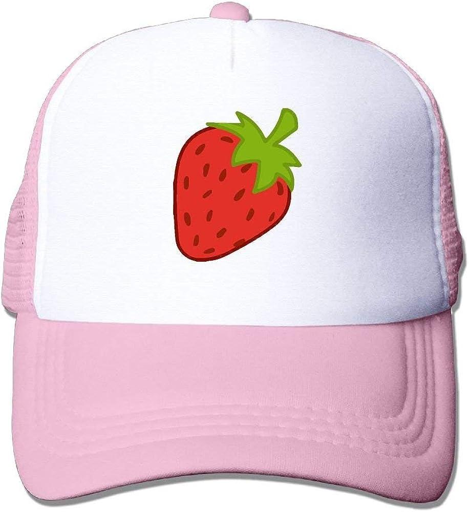 Sdltkhy Strawberries Cute Mesh Trucker Caps//Hats Adjustable for Unisex Black