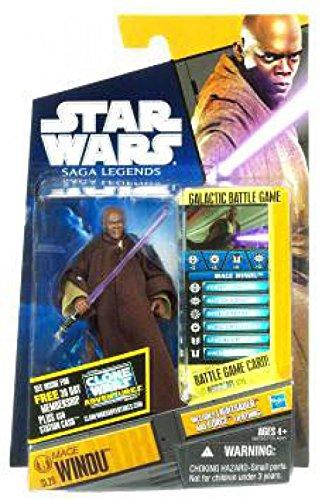 Star Wars, Saga Legends 2011 Series, Mace Windu Action Figure # SL29, 3.75 Inches
