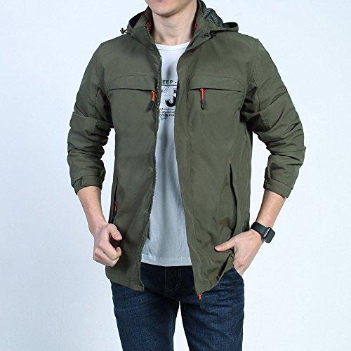 Sottile Giacche Nihiug Impermeabili Da Stile Uomo Antivento Sportive Armygreen 0Cd0rx