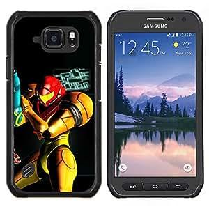 """Be-Star Único Patrón Plástico Duro Fundas Cover Cubre Hard Case Cover Para Samsung Galaxy S6 active / SM-G890 (NOT S6) ( Metr0Id Superhero"""" )"""