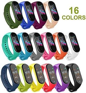 Mardozon Correas para Xiaomi Mi Band 3 / Mi Band 4 Silicona Pulsera de Recambio Brazalete Coloridos Reemplazo (16 Colores): Amazon.es: Electrónica