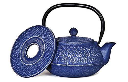 SKÖN Cast Iron Teapot & Matching Trivet (Blue)
