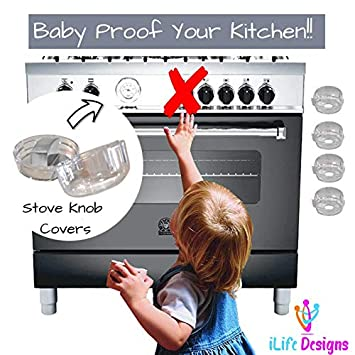 ,Stove Knob Covers Baby Safety Oven Gas Stove Knob Protection Locks for Child Proofing 6 Pack Universal Kitchen Stove Baby Proofing Gas knob Covers