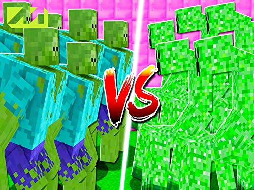 Clip: Mutant Zombies vs Mutant Creepers in Minecraft]()