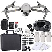 DJI Mavic Pro Platinum FLY MORE COMBO Collapsible Quadcopter Black Aluminum Hardshell Case Bundle