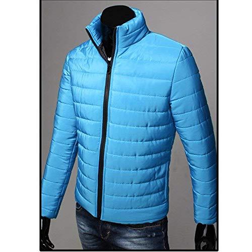 Blau Slim Collar Warm Coat Winter Men Quilted Sleeve Long Outwear Fit Nero Jacket Boy Plus Adelina Jacket Down Stand Size Chaude qx1RFwfnZ