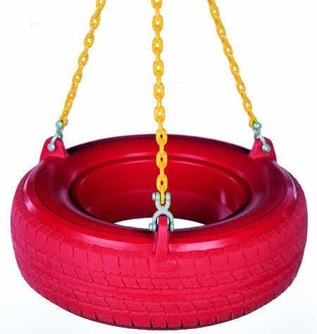 Swing Set Stuff Plastic Tire Swing With Coated Chain  With S