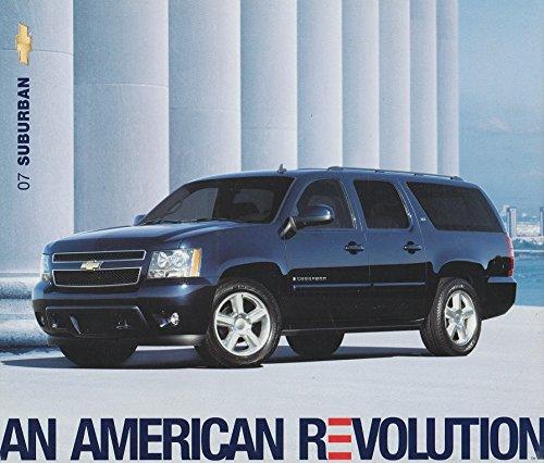 2007 CHEVROLET SUBURBAN COLOR SALES BROCHURE - CARD + FLAP AUTO SHOW - USA !!