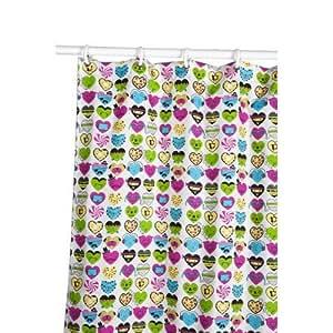 David and Goliath I love Hearts Microfiber Shower Curtain