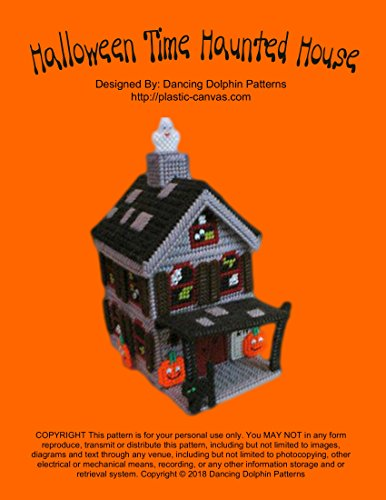 Halloween Time Haunted House: Plastic Canvas Pattern
