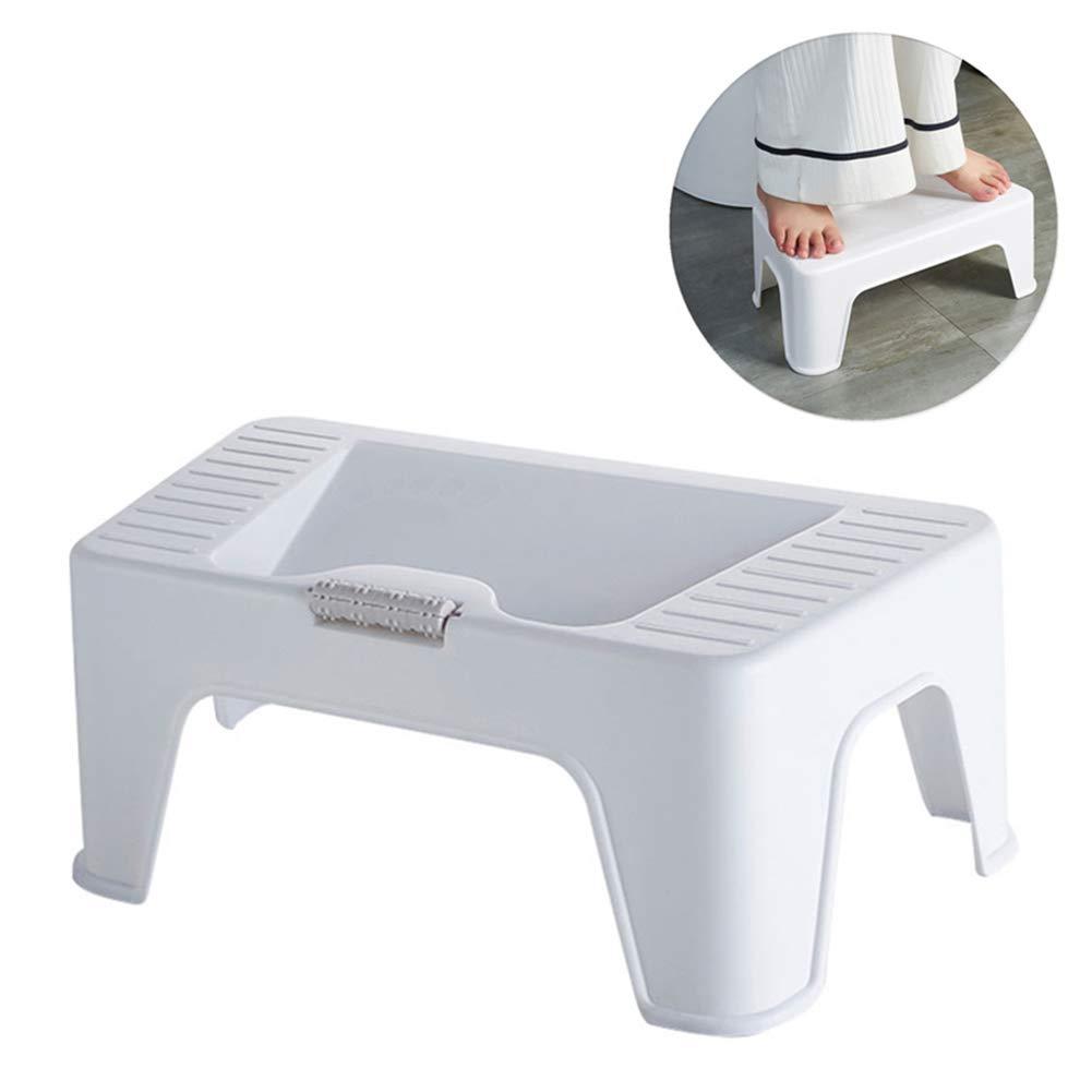 Bathroom Toilet Stool - Non-Slip Potty Stool Ramp Design - Portable Footstool For Elderly Kids Pregnant by HB Toilet Stool