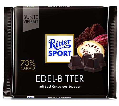 Ritter Sport 100 g Edel-Bitter 73% Kakao Tafelschokolade, 9er Pack (9 x 100 g)