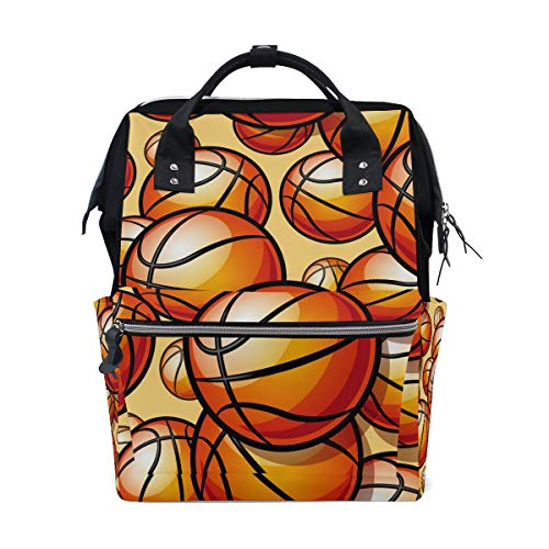 Basketball Diaper Bag Mummy Dad Tote Backpack Travel School Boy Girl Large