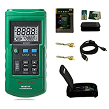MASTECH MS6514 Dual Channel Digital Thermometer Temperature Logger Tester