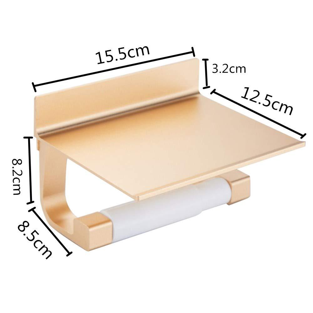 Amazon.com: Onepeak Soporte de toalla de papel Soporte de pared con estante para especias y estante de teléfono Soporte de rollo de papel higiénico de acero ...