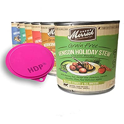 Merrick Dog Food Cans 13.2oz. Mix and Match Size:Pack of 6 with HDP Can Cover