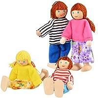 Hrph Madera miniatura muebles del Dollhouse Juguetes Set