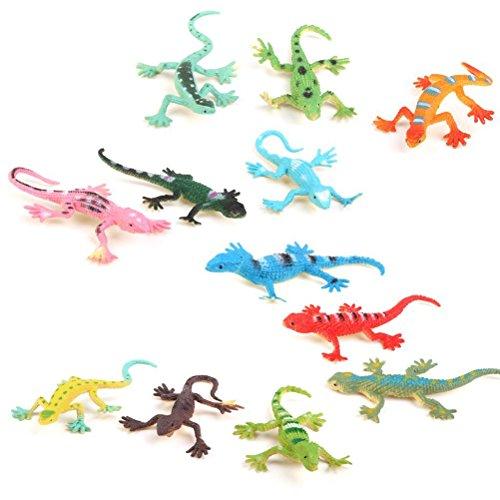 WINOMO Model Plastic Lizard Figures Kids Toy Set Tricks - (Small Lizards)