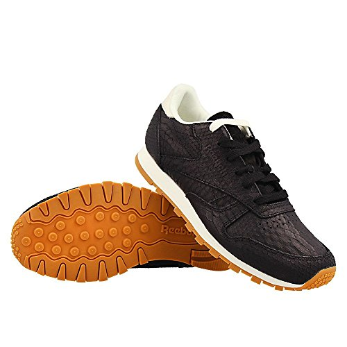 Reebok - CL Lthr Clean Exoti Blackchalk - Color: Bianco-Nero - Size: 37.5