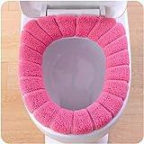 black cushion toilet seat SUJING Soft Washable Toilet Seat Cover Pads Toilet Warmer Mat Cover Pad Cushion Bathroom Toilet Seat Cushion (Hot Pink)