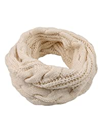 MOHSLEE Womens Cable Infinity Scarf Thick Ribbed Knit Winter Circle Loop Scarves