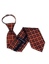Mens Extra Long Designer Pattern Zipper Necktie