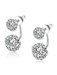 Richy-Glory - Real 925 Sterling Silver Earrings for Women Jewelry