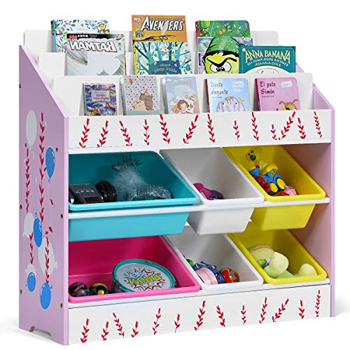 Costzon Organizer Bookshelf Children Removable product image
