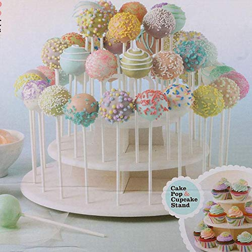 Fondant - 3 Tiers Cake Stand Round Cup Cupcake Holder Wedding Birthday Party Decorations Events Dessert - Ribbon Bill Kosher Gold Glue Molds Pink Steamer Organic Onesie Utensils Zebra Roll ()