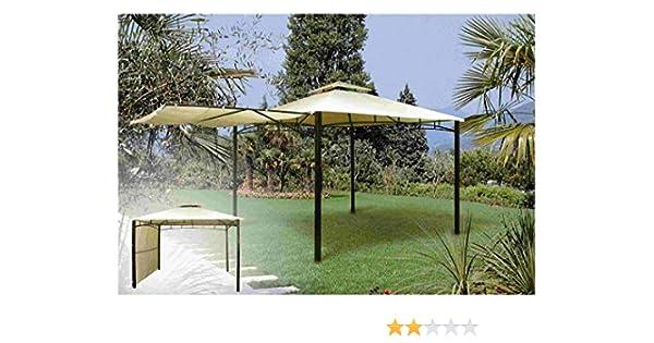 CENADOR JARDÍN METÁLICO 3X3 METROS BEIGE: Amazon.es: Bricolaje y herramientas
