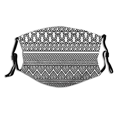 Obershein Fashion Mout Cover 3D Printing Replaceable Filter Chip Face Cover Soft Colors Bandana Headwear: Clothing