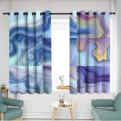 Extra Wide Patio Door Curtain Blackout Draperies For Bedroom W 63
