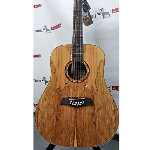 Maple 12 String - Oscar Schmidt OD312SM Spalted Maple Top 12-String Dreadnought Acoustic Guitar
