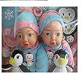 Brass Key Keepsakes Celebrating Twins 15 Inch Baby Dolls - Polar Cuties