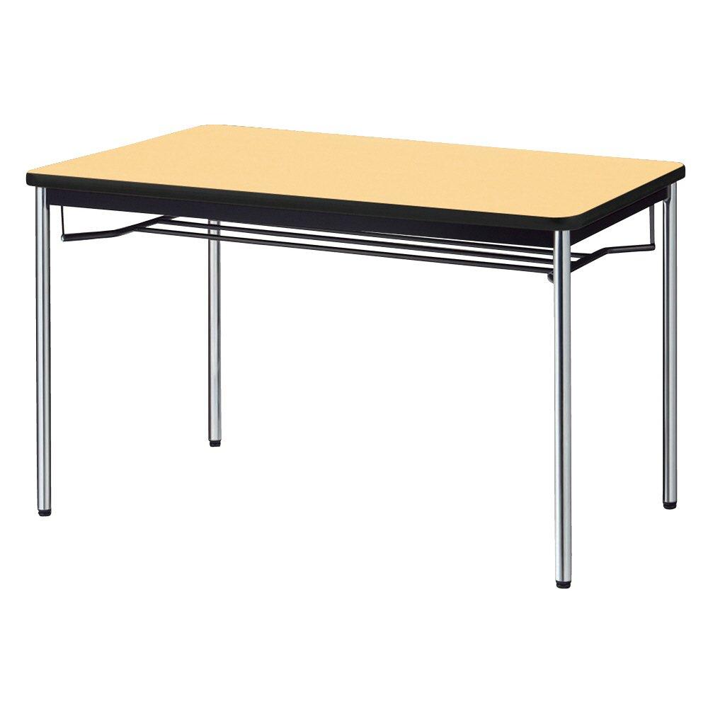 プラス 会議テーブル YB2 メッキ脚 天板ホワイトメープル YB-S425 WM/P B00VW8VS0A 幅120×奥行75cm|ホワイトメープル(天板)×メッキ脚 ホワイトメープル(天板)×メッキ脚 幅120×奥行75cm