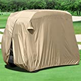 WATERPROOF SUPERIOR BEIGE GOLF CART COVER COVERS CLUB CAR, EZGO, YAMAHA, FITS MOST TWO-PERSON GOLF CARTS