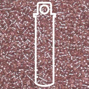 Silver Lined Pale Rose (Db1434) Delica Myiuki 11/0 Seed Bead 7.2 Gram Tube Approx 1400 Beads