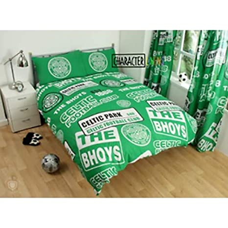 Celtic - Juego de Cama diseño Parches del Club (Individual) (Verde ...