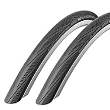 Schwalbe Lugano 700c x 25 Road Racing Bike Tyres (with Puncture Protection) - Pair by Schwalbe